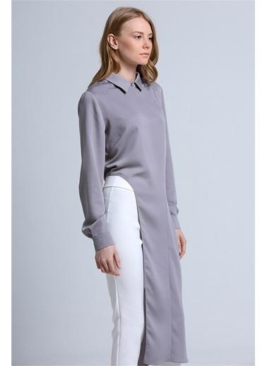 Love'n Fashion Paris Gömlek Gri